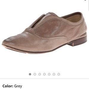 FRYE Jillian slip on leather gray oxfords size 7.5